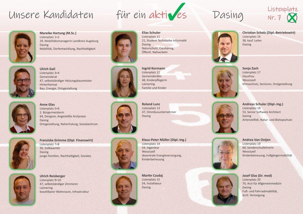 Flyer Aktive Bürger Dasing Innenseite