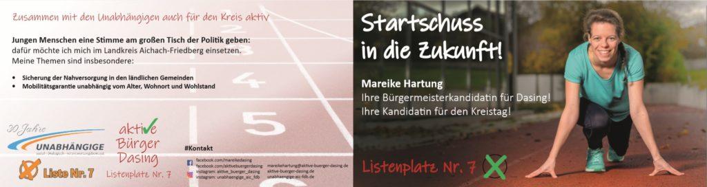 Flyer Mareike Hartung Vorderseite